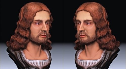 Ricostruzione del volto di Raff